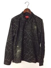 16AW/Spider Web Shirt/S/ポリエステル/BLK