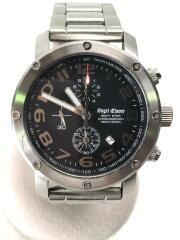 クォーツ腕時計/アナログ/ステンレス/BLK/ES43