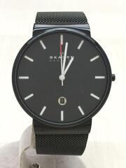 クォーツ腕時計/skw6053/アナログ/ステンレス/BLK