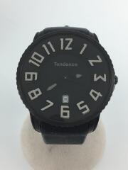 クォーツ腕時計/J05L/アナログ/ラバー/BLK