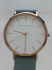 クォーツ腕時計/アナログ/WHT/BLU