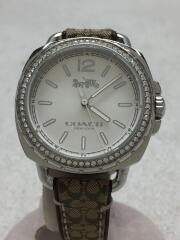 クォーツ腕時計/アナログ/SLV/BRW
