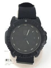 クォーツ腕時計/アナログ/ナイロン/BLK/BLK/3000/3900