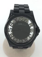 クォーツ腕時計/MBM4572/アナログ/ステンレス/BLK/BLK