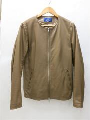 レザージャケット・ブルゾン/38/羊革/BEG