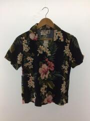アロハシャツ/開襟半袖シャツ/--/レーヨン/NVY/花柄/SIZE:P/150cm