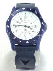 クォーツ腕時計/アナログ/レザー/WHT/NVY/TW2R11300