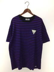 Tシャツ/TEE/コットン/パープル/ボーダー