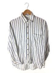 ストライプルーズシャツ/オーバーサイズ/FREE/レーヨン/ホワイト/ストライプ/111620413801