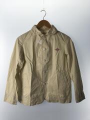シャツジャケット/34/コットン/ベージュ/ショールカラー/15S-SL-003