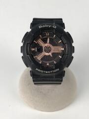 クォーツ腕時計/Baby-G/デジアナ/ブラック/BA-110RG-1AJF