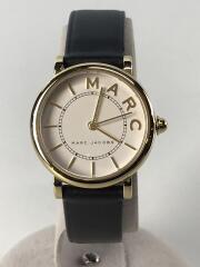 クォーツ腕時計/アナログ/レザー/ホワイト/ブラック/ロキシー/ROXI/MJ1537