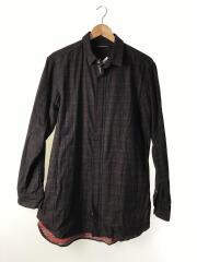 ジップシャツジャケット/A Rags man/AnagRams/2/コットン/ボルドー/チェック
