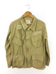 DAMAGE MILITARY SHIRT JACKET/ダメージミリタリーシャツジャケット/L/50452