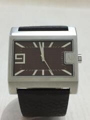 クォーツ腕時計/アナログ/レザー/BRW/AX1060/5ATM/スクウエア/5穴/クロノグラフ