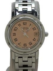 クォーツ腕時計/アナログ/ステンレス/ピンク文字盤/シルバーベルト/319657/3758/2