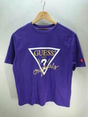 Tシャツ/S/コットン/パープル/紫/無地/ゲス/デザイナーズ/USA/WASHED JEANS