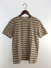 Tシャツ/XS/ウール/BEG/ボーダー/498866 YB2NX/ラグジュアリー/クルーネック//