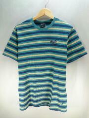 Tシャツ/M/コットン/マルチカラー/RN114910/ボーダー/Hufロゴ/ロゴ刺繍