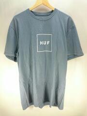 Tシャツ/L/コットン/ブルー/青/RN114910/SK8/フロントロゴ/プリントT/クルーネック/