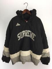17AW/Puffy Hockey Pullover/ナイロンジャケット/XL/ナイロン/BLK/ブラック/無地