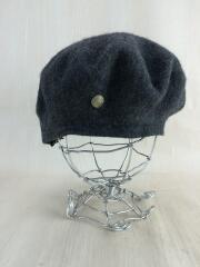 ベレー帽/ウール/グレー/ヘッドウェア/帽子/