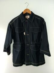 ジャケット/S/コットン/ウエストマーク/7分袖シャツジャケット/コート/袖裏汚れ有