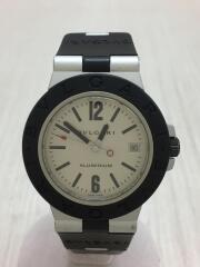 自動巻腕時計/アナログ/ラバー/SLV/BLK/AL38/セカンドストリート