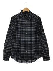 レリーフモノグラムロゴシルクシャツ/シルク/M/RM132M/チェック総柄シャツ