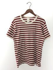 Tシャツ/--/コットン/ボルドー/ボーダー/8193-L/セカンドストリート