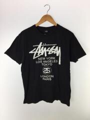 Tシャツ/M/コットン/BLK/プリント/ロゴ/シンプル/セカンドストリート/