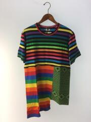 PFT005/Tシャツ/S/コットン/マルチカラー/ストライプ/デザイナーズ/セカンドストリート