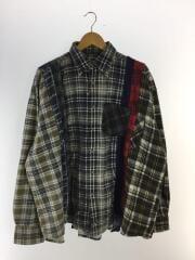 長袖シャツ/マルチカラー/リメイクシャツ