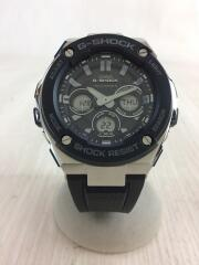 カシオ/ジーショック/ソーラー腕時計・G-SHOCK/デジアナ/GST-W300/ブラック×シルバー