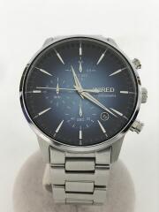 クォーツ腕時計/アナログ/クロノグラフ/ステンレス/ブルー/VD57-KJD0/箱コマ付
