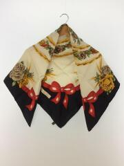 スカーフ/シルク/バラ/リボン