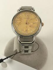 クォーツ腕時計/アナログ/ステンレス/イエロー/シルバー/コマ付/5Y66-0BK0