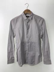 アンダーカバー長袖シャツ/2/コットン/ストライプ/中古/襟、袖口ヨゴレ