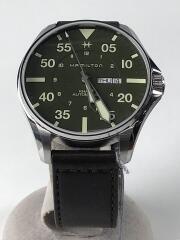 自動巻腕時計/アナログ/レザー/GRN/BRW