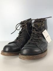 ACE BOOTS Co./レースアップブーツ/US8.5/BLK/レザー