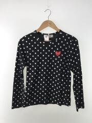 長袖Tシャツ/M/コットン/BLK/ドット