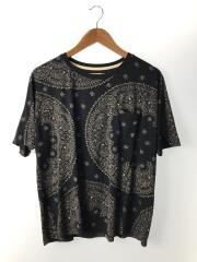 Tシャツ/L/レーヨン/BLK