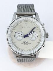 クォーツ腕時計/アナログ/ステンレス/WHT/SLV/NEST112