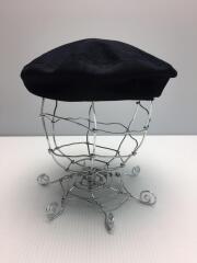 191AC002/ヘッドウェア/ベレー帽/コットン/ネイビー/紺