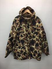 中綿ジャケット/3L/ナイロン/BRW/カモフラ