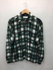 VELVET OMBRE CHECK SHIRT/ベルベットオンブレチェックシャツ/44/レーヨン/0692
