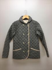 キルティングジャケット/34/ウール/グレー