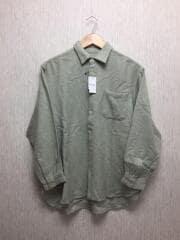 YL-B92-115/長袖シャツ/ウール/グレー