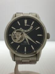 DA02-C0-B/自動巻腕時計/アナログ/ステンレス/BLK/SLV/ブラック/シルバー