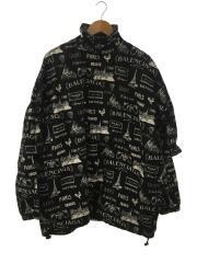 Double Sleeve Zip-Up Jacket/ジャケット/48/コットン/BLK/総柄